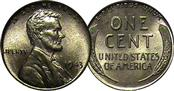 UNITED STATES 1943 ONE CENT COIN